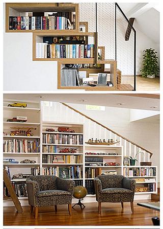 楼梯书架创意设计图