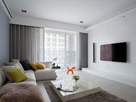 简约风公寓  平静的色调舒适的空间感