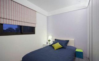 108平北欧三居室蓝紫色卧室设计装修