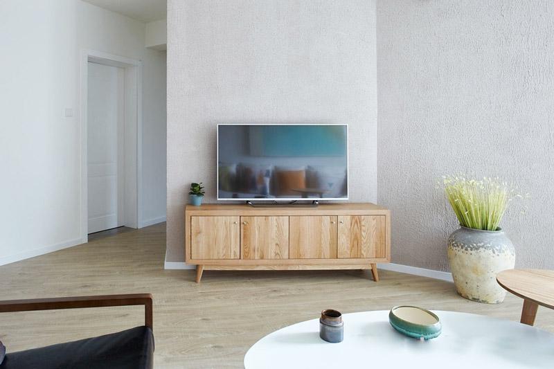 清爽简洁北欧风 客厅电视柜图片