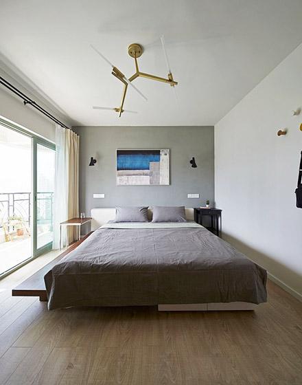 北欧风格三居室主卧室装修
