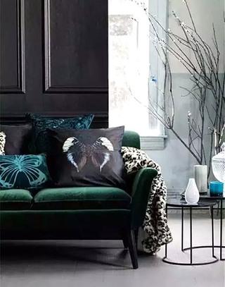 客厅绿色沙发设计图片大全