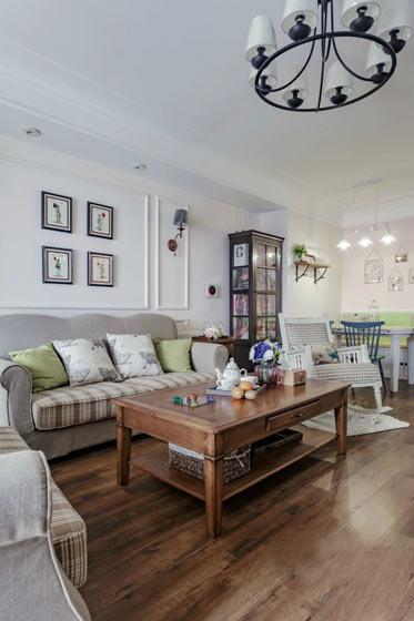 119平美式风格客厅装修设计图