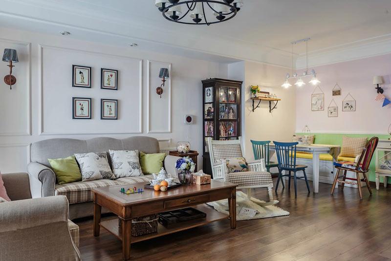 119平美式风格客厅沙发背景墙装饰画