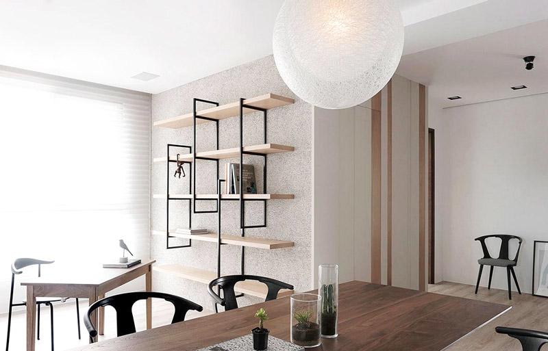 现代简约三居室木质餐桌图片