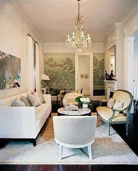 法式客厅装修平面图
