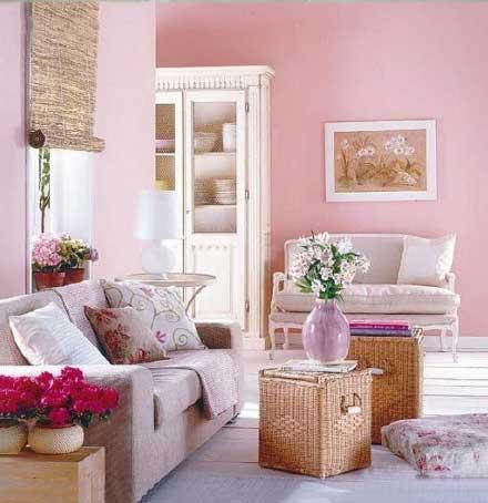 法式客厅粉色系设计图片