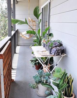 绿意阳台装修图片