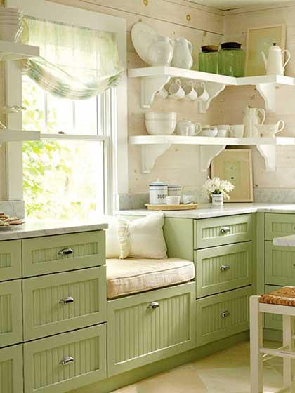田园厨房装饰参考图片