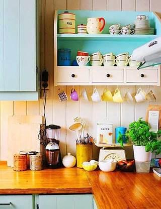 北欧风格厨房摆放图片