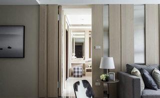 104平米现代简约背景墙装饰图片
