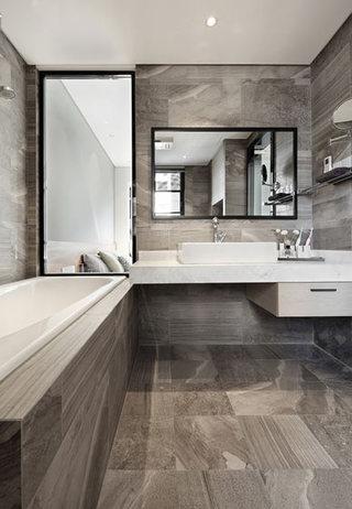 新中式风格时尚灰色厨房橱柜设计图_齐家网装修效果图
