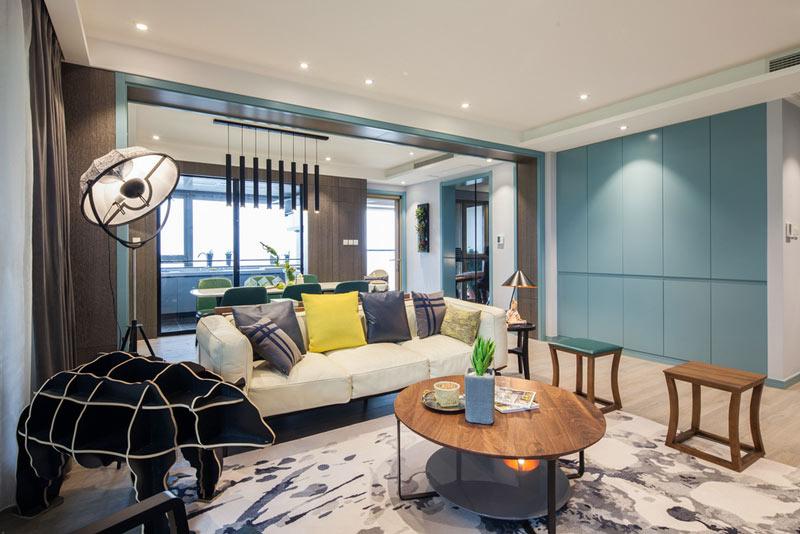 138平混搭风格客厅装饰效果图