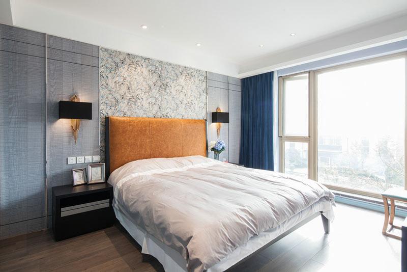 灰色新古典混搭风卧室设计
