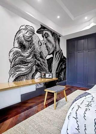 卧室背景墙设计构造图