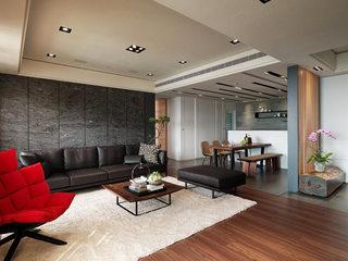 112平米现代前卫客厅吊顶设计