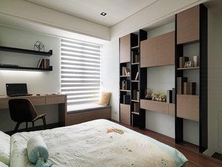 112平米现代前卫收纳卧室背景墙效果图