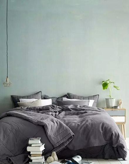 绿色卧室背景墙装修