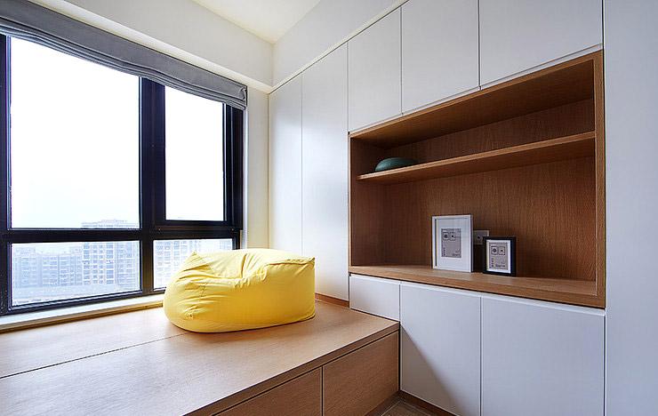 89平三室两厅书房榻榻米装修