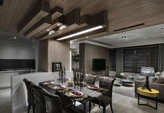 108平米单身公寓餐厅吊顶设计