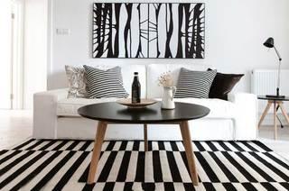 黑白北欧波普风 客厅沙发区设计