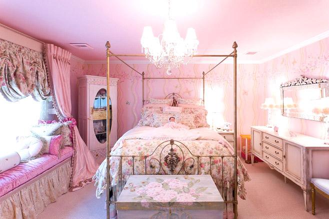 田园风格粉色女孩房设计