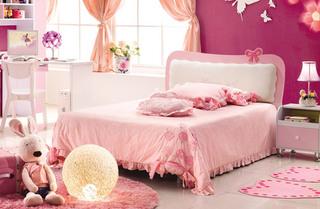 甜美粉色女孩房装潢设计图