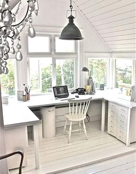 阳台转角书桌装修设计