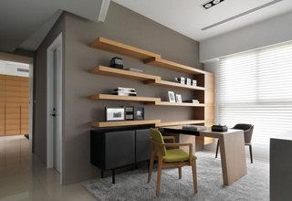 210平现代简约书房装饰效果图