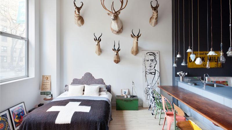 40平米混搭风格卧室设计效果图