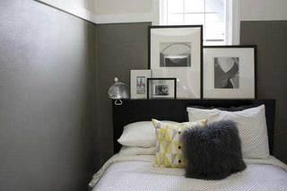灰色系卧室装修图片大全