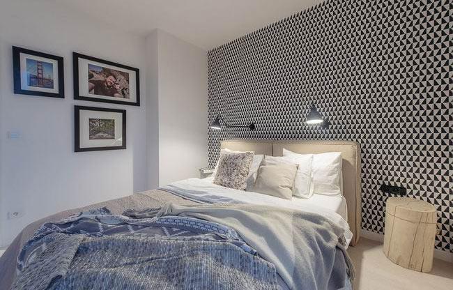 65平波兰北欧风舒适卧室设计图