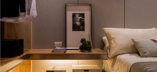 128平中式卧室床头柜设计效果图