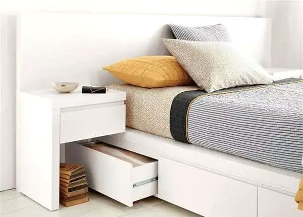 实用卧室收纳床效果图片
