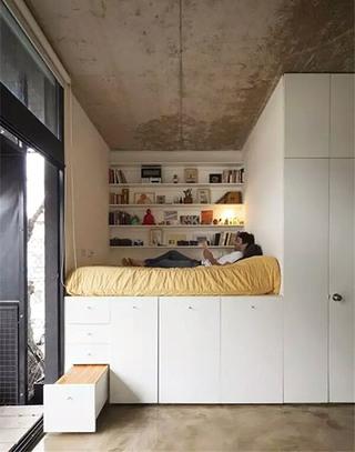 实用卧室收纳床装修效果图