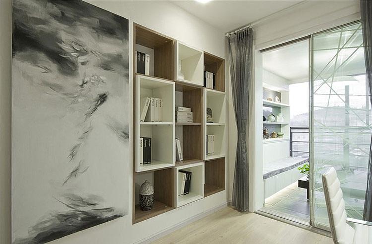 文艺新中式家居博古架设计