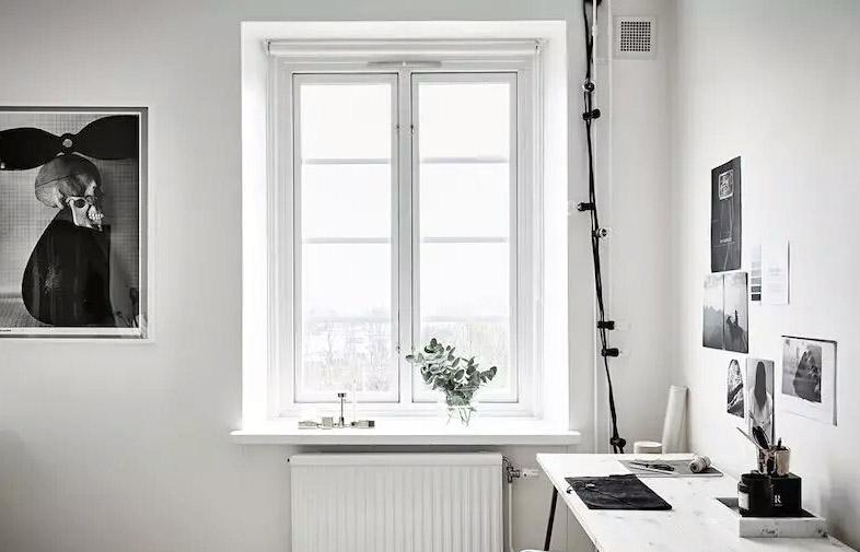 文艺北欧风公寓 白色窗户装修
