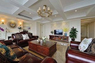 简美风格200平大户型客厅效果图