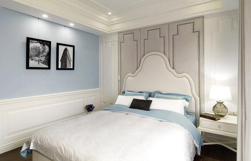 清爽现代美式卧室效果图