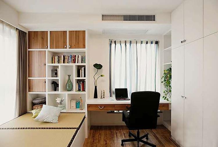 120平现代简约三室书房效果图
