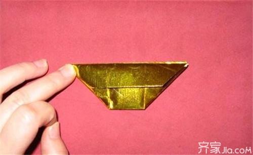 折纸DIY 金元宝的折法图解