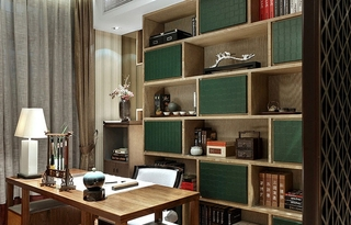 170平大户型装修书房效果图