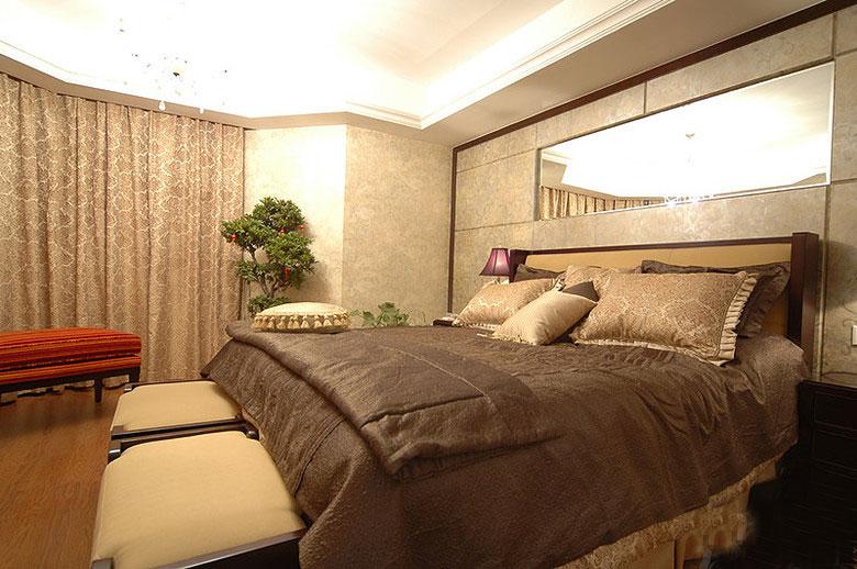 120平欧式风格卧室效果图