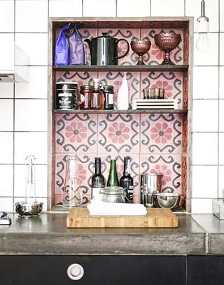 厨房花瓷砖背景墙效果图