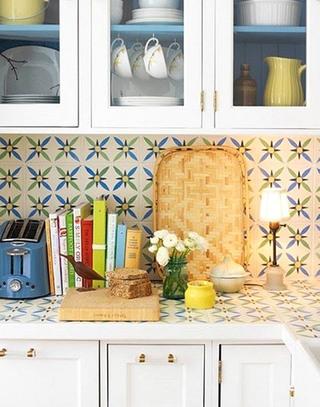 厨房花磁瓷砖背景墙装修