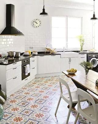另类厨房地板瓷砖装修设计
