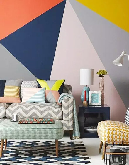 北欧风格沙发抱枕几何图案