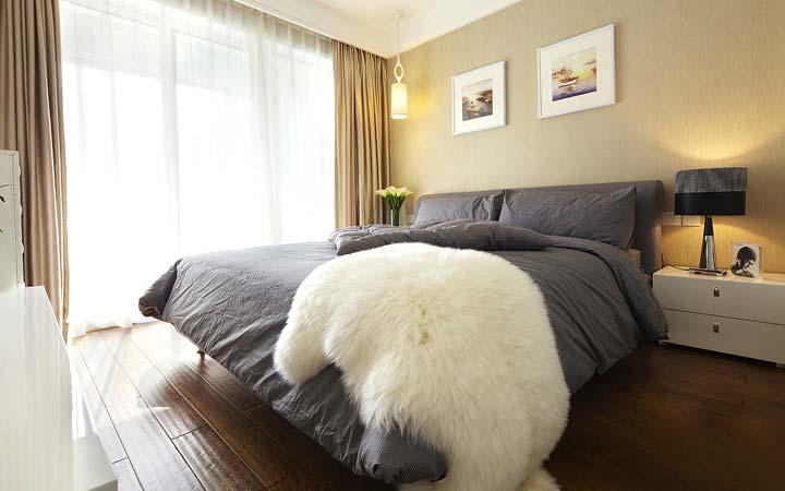 极简卧室平面布置效果图