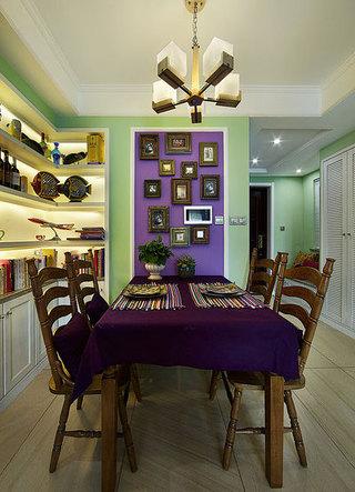 100平两室混搭风格装修餐厅效果图