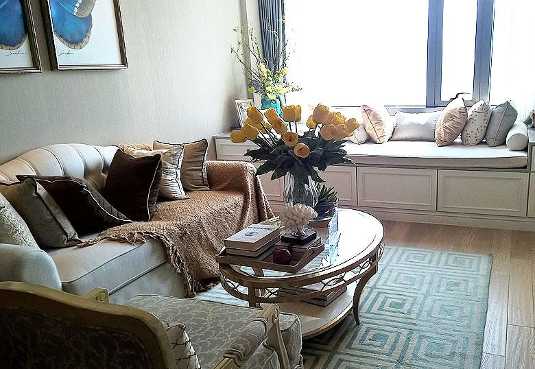 90平两室欧式风格装修舒适客厅设计